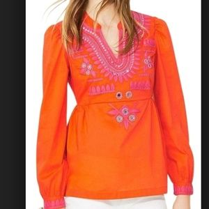 NWOT TORY BURCH CLAUDIA MIRROR EMBROIDERY TOP